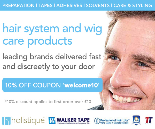 Hair System and Wig products at Holistique Advert